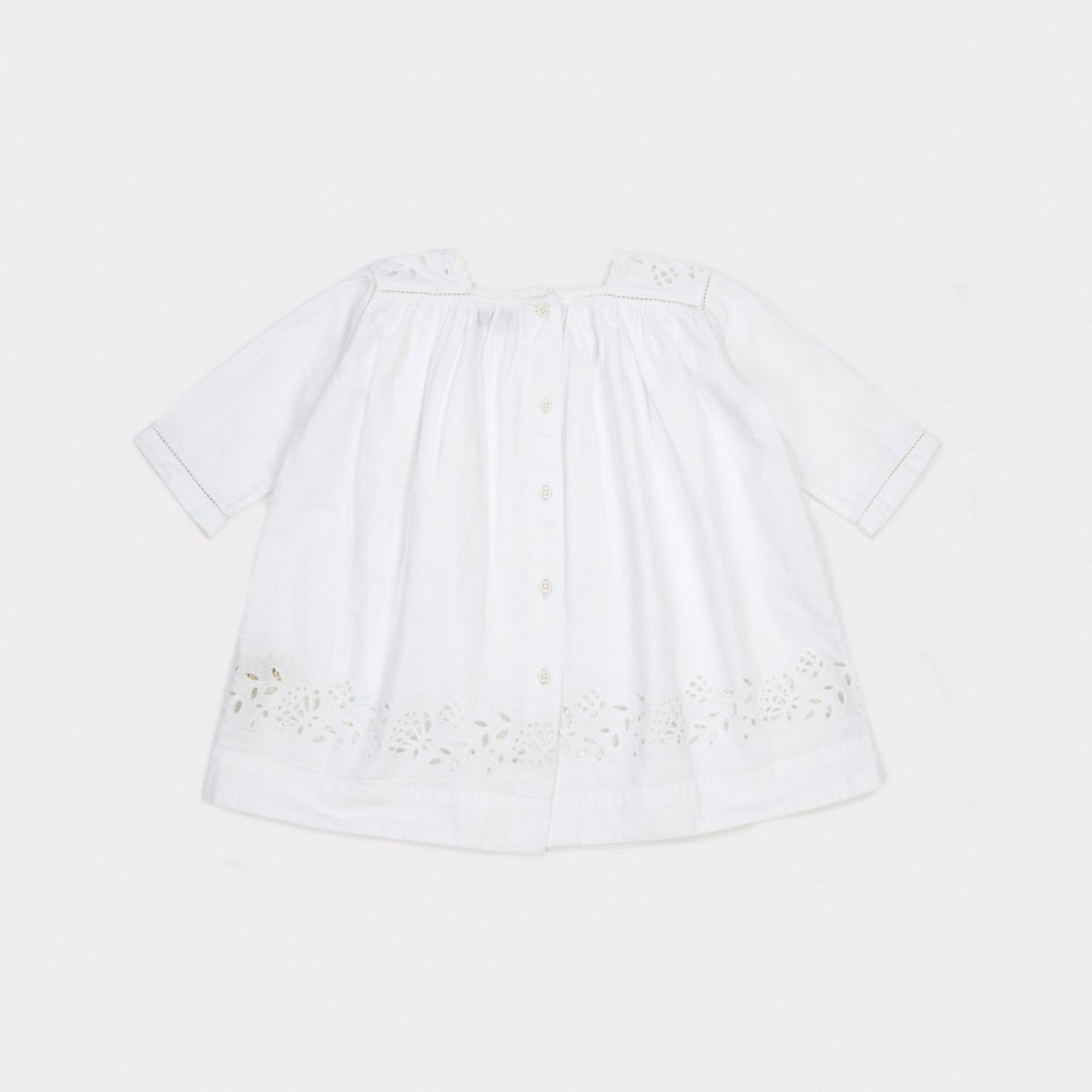 Caramel London Claire Baby Girl's Dress in White | BIEN BIEN