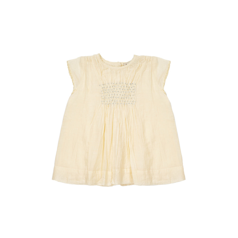 Caramel London Perry Baby Dress in Pale Yellow | BIEN BIEN