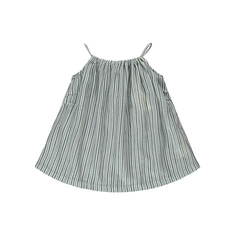 Caramel London Windermere Baby Dress in Striped Blue | BIEN BIEN