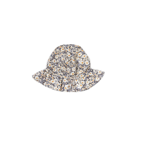 Caramel Melon Baby Sunhat in Grey Liberty | BIEN BIEN