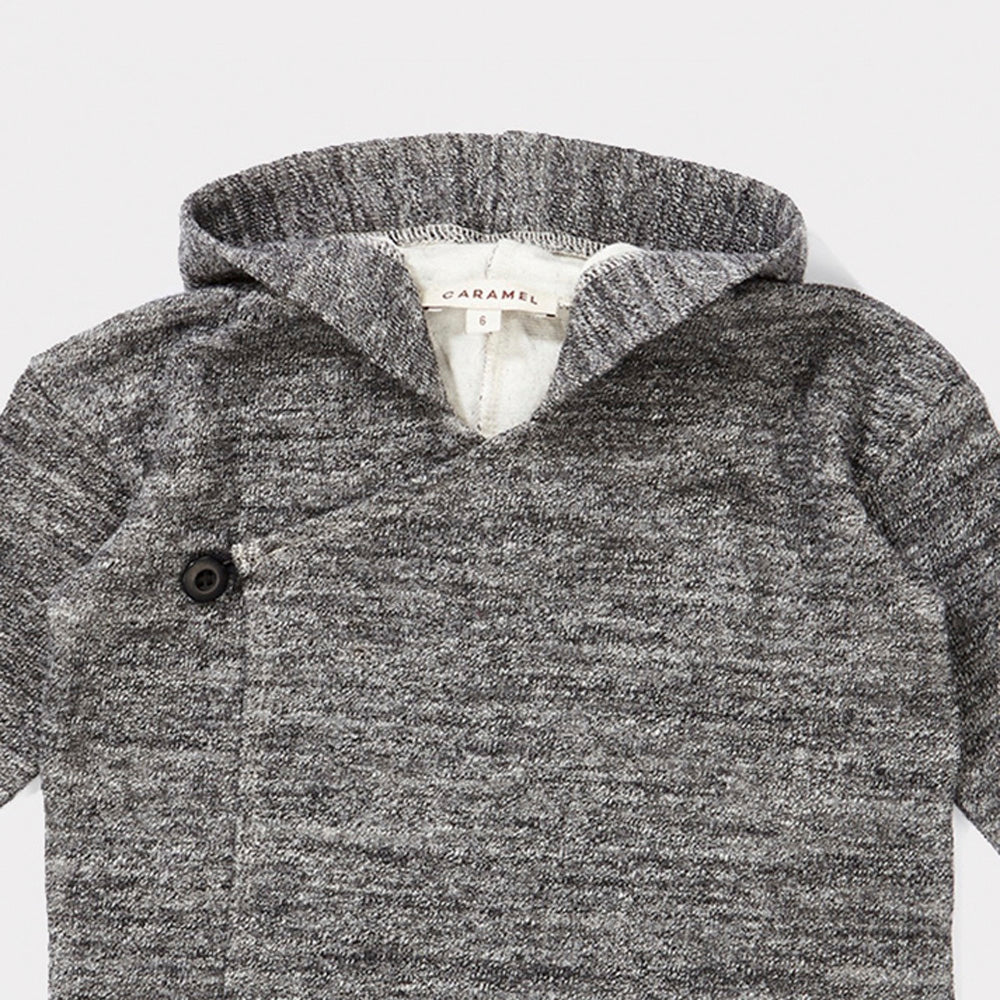 Caramel London Camomile Baby Unisex Jacket Charcoal Cotton | BIEN BIEN www.bienbienshop.com
