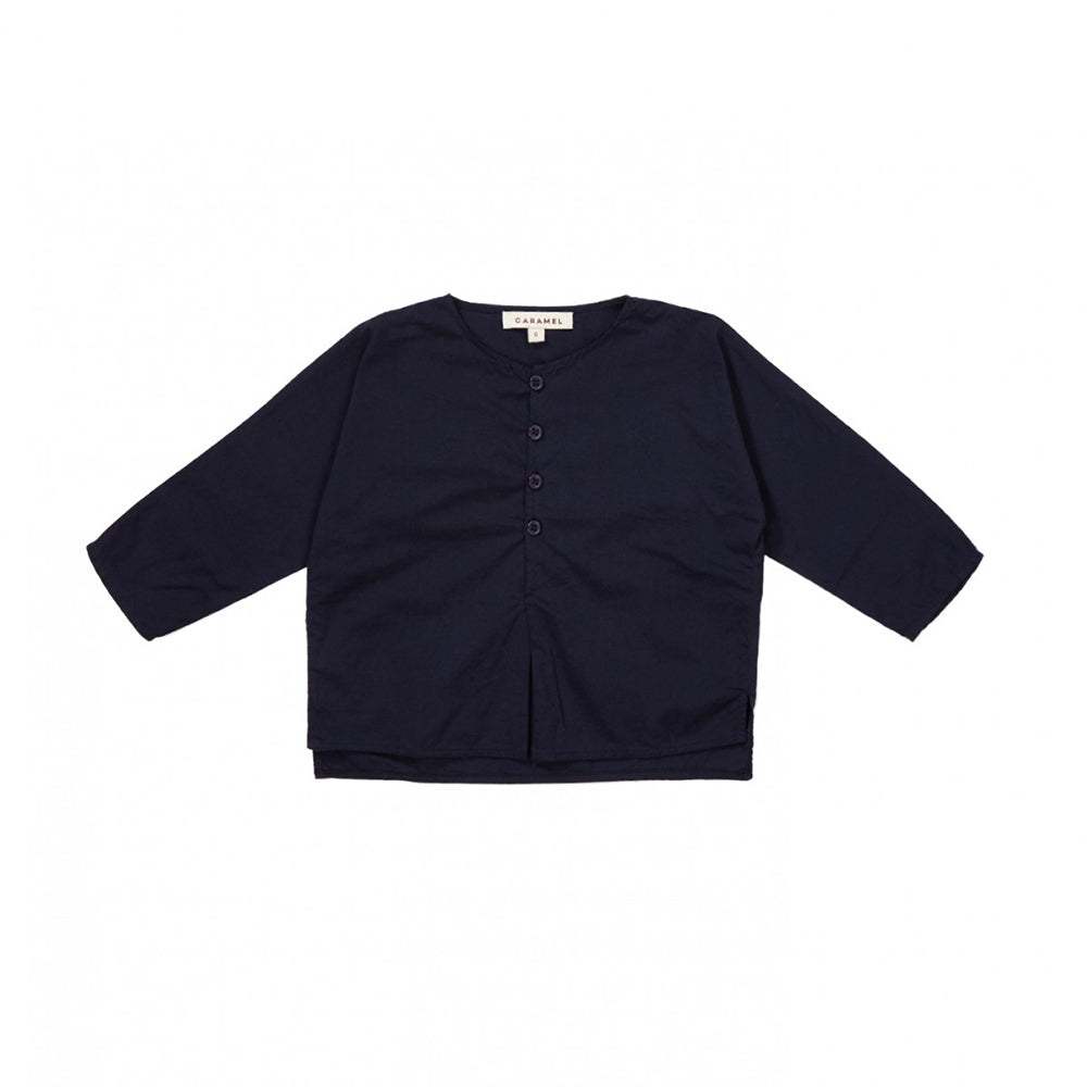 Caramel London Billy Baby Shirt in Navy Blue | BIEN BIEN