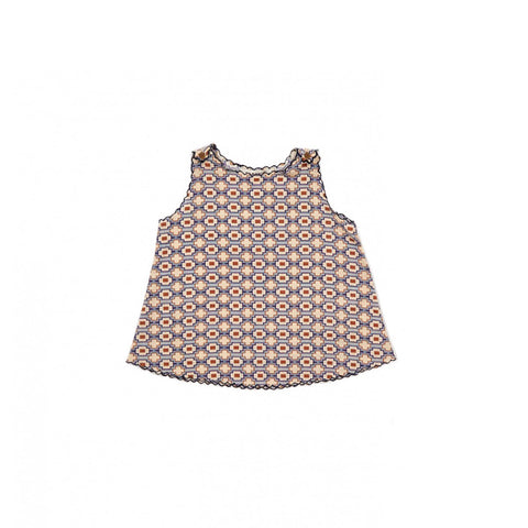 Caramel London Tuz Baby Top in Kaleido Blue | BIEN BIEN