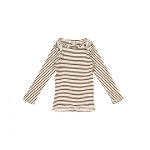 Caramel London Vida Baby T-Shirt in Sand/Chocolate | BIEN BIEN