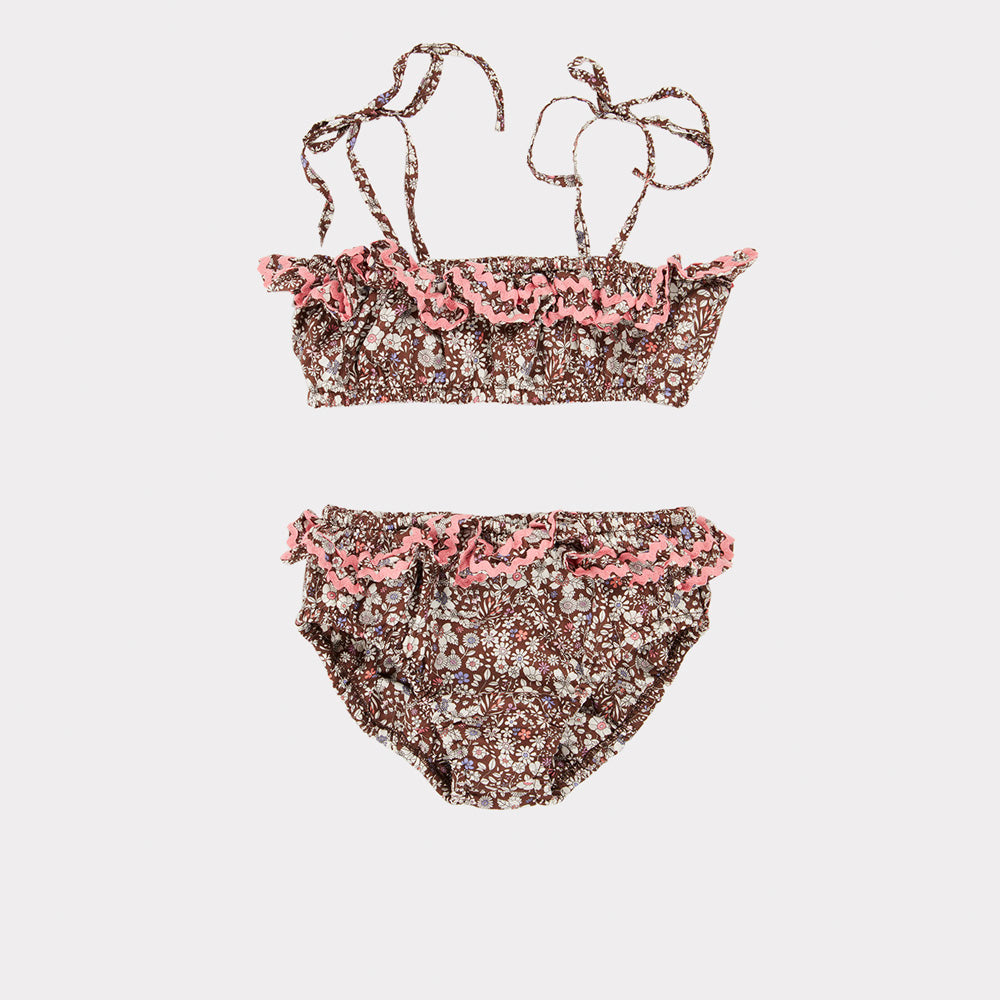 Caramel Mahi Kid Bikini Maillot June Meadow Brown | BIEN BIEN