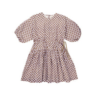 Caramel London Cyclamen Kid's Dress Lilac Geometric Print | BIEN BIEN www.bienbienshop.com