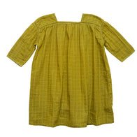 Caramel Pony Kid's Cotton Dress in Sweet Pea Check | BIEN BIEN www.bienbienshop.com