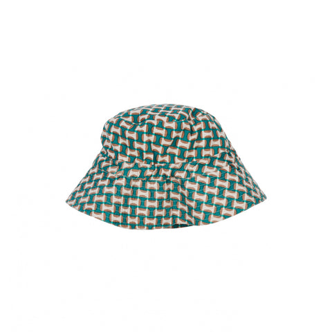 Caramel London Ada Kid's Hat Emerald Geometric | BIEN BIEN www.bienbienshop.com
