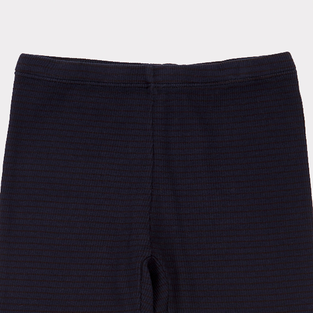 Caramel Hampton Kid's Ribbed Trouser Dark Navy Stripe | BIEN BIEN www.bienbienshop.com