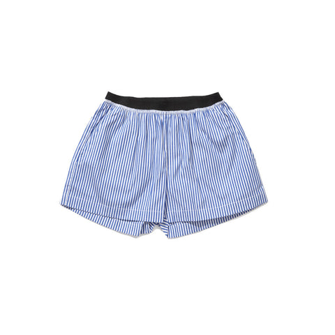 Caramel Borage Kid's Boxer Short in Blue Stripe | BIEN BIEN