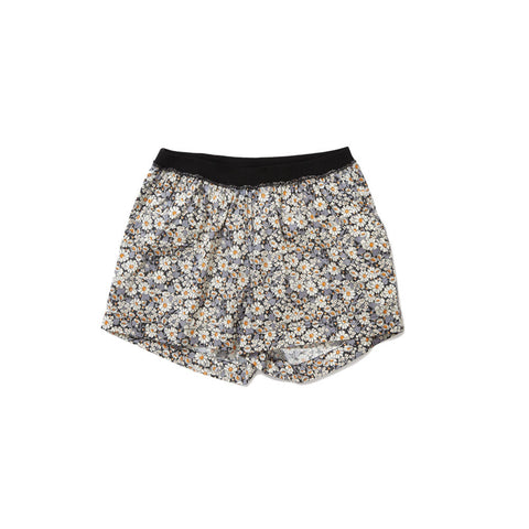 Caramel Borage Kid's Boxer Short in Grey Liberty | BIEN BIEN