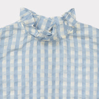 Caramel London Chilika Girl's Top in Pale Blue Check | BIEN BIEN