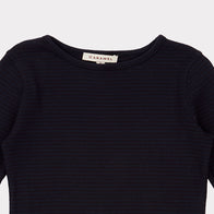 Caramel Dulwich Kid's Striped Long Sleeve Tee Dark Navy | BIEN BIEN www.bienbienshop.com