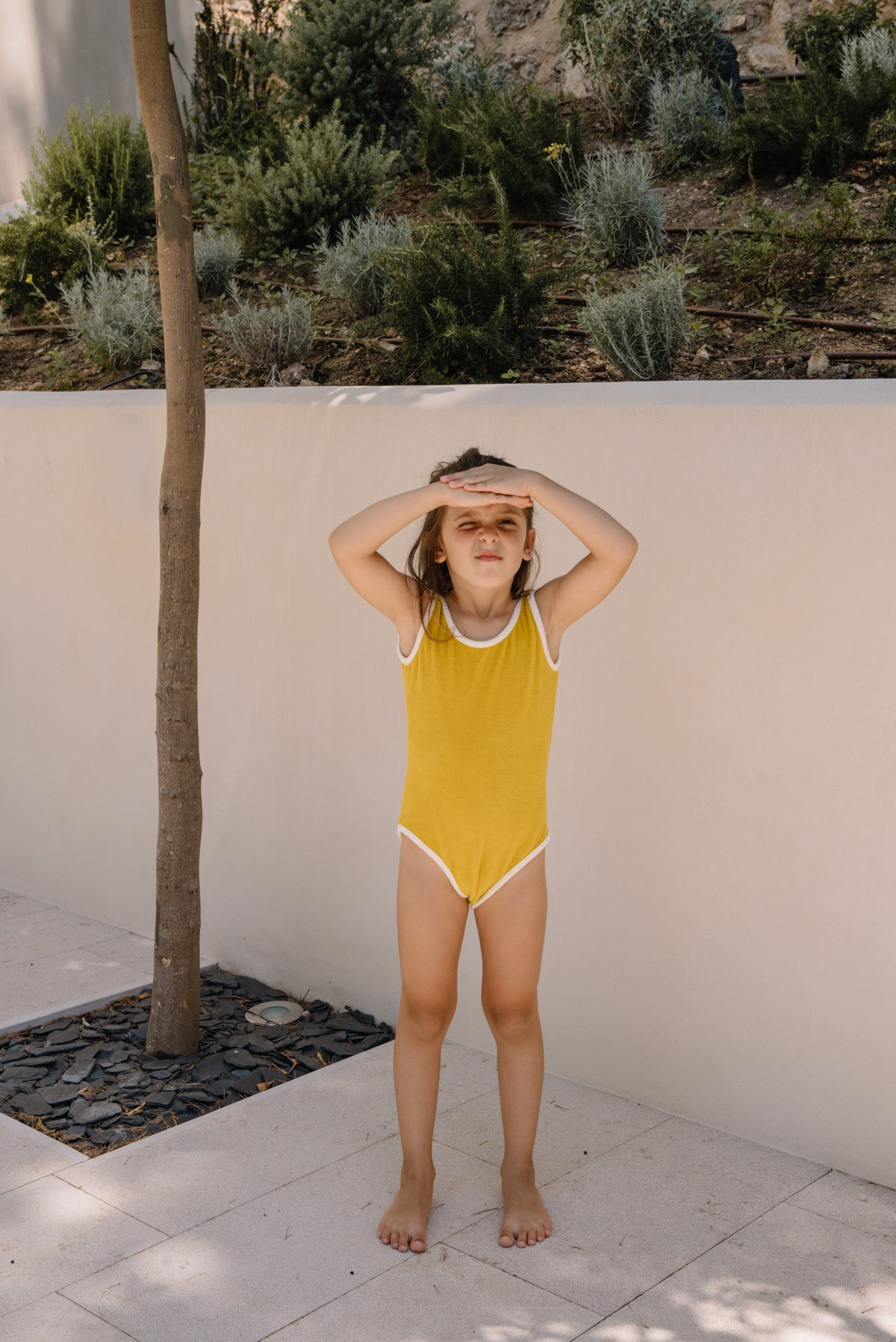 NEW We Are Kids Gigi Terry Maillot Swimsuit Happy Curry | BIEN BIEN
