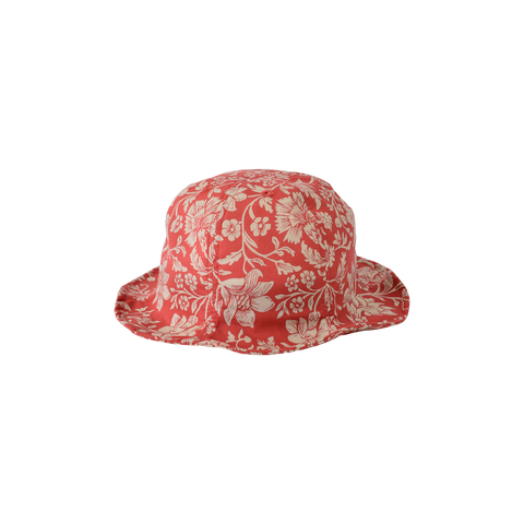 East End Highlanders Tulip Kid's Bucket Hat Red Floral | BIEN BIEN www.bienbienshop.com