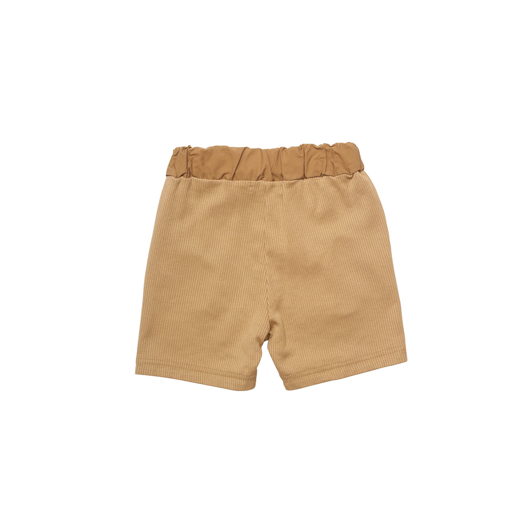 East End Highlanders Jersey Ribbed Kid's Shorts Beige | BIEN BIEN www.bienbienshop.com