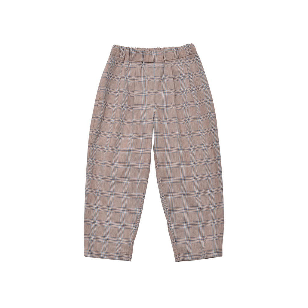 East End Highlanders Kid's Lounge Trouser Brown Plaid | BIEN BIEN www.bienbienshop.com