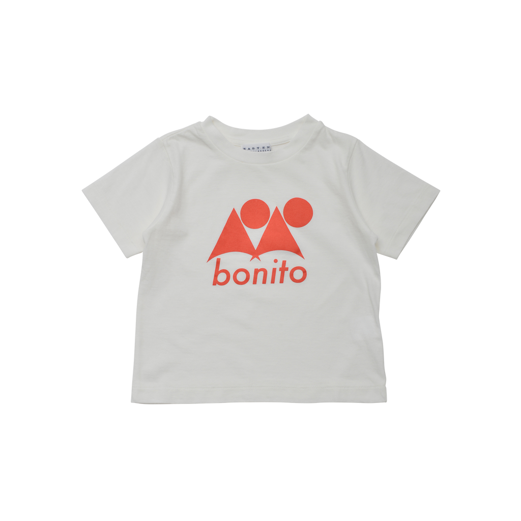 East End Highlanders Bonito Kid's T-Shirt White/Orange | BIEN BIEN www.bienbienshop.com