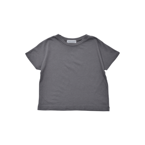 East End Highlanders Dolman Kid's Cotton Modal Short Sleeve Tee Grey | BIEN BIEN www.bienbienshop.com