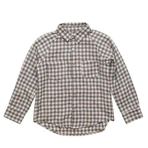 Kid's Raglan Buttondown Shirt