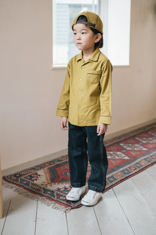 East End Highlanders Kid's Pajama Shirt Mustard | BIEN BIEN www.bienbienshop.com