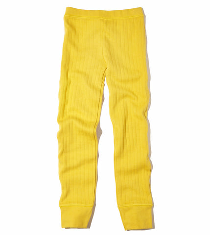 Goat-Milk Girl's Thermal Pant Drop Needle in Mustard | BIEN BIEN