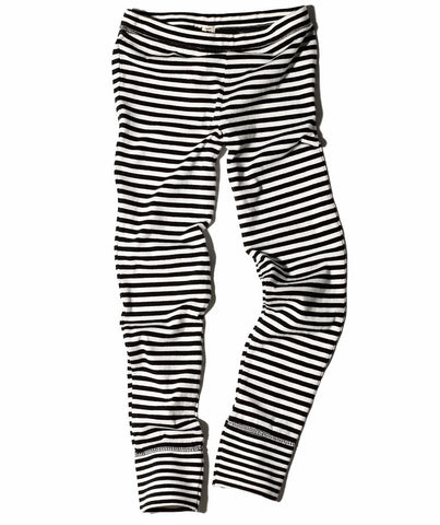Goat-Milk Girl's Thermal Pant Jersey in Striped | BIEN BIEN