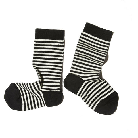 Goat-Milk Kid's Socks in Striped Black Toe | BIEN BIEN