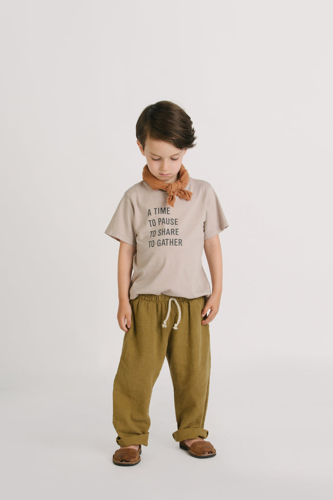 Go Gently Nation Baby & Kid's Lawn Pant Fennel | Organic cotton/hemp | BIEN BIEN www.bienbienshop.com