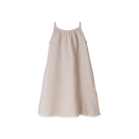 Go Gently Nation Sleeveless Gauze Sundress Sandstone | BIEN BIEN www.bienbienshop.com