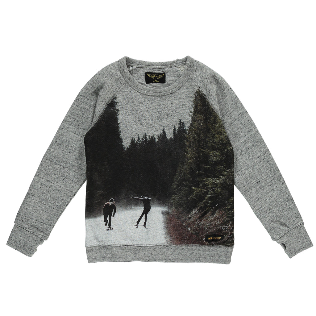 Finger in the Nose Hank Crew Neck Sweater in Heather Grey | BIEN BIEN