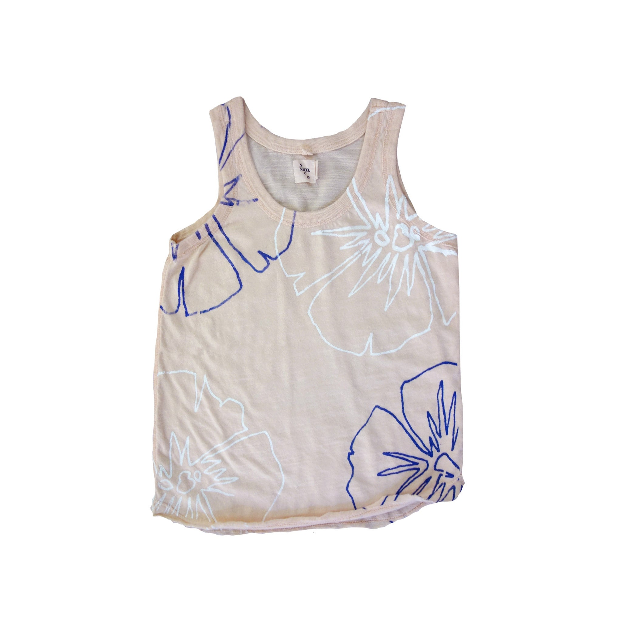 Nico Nico Hibiscus Kid's Tank Top in Honey | BIEN BIEN