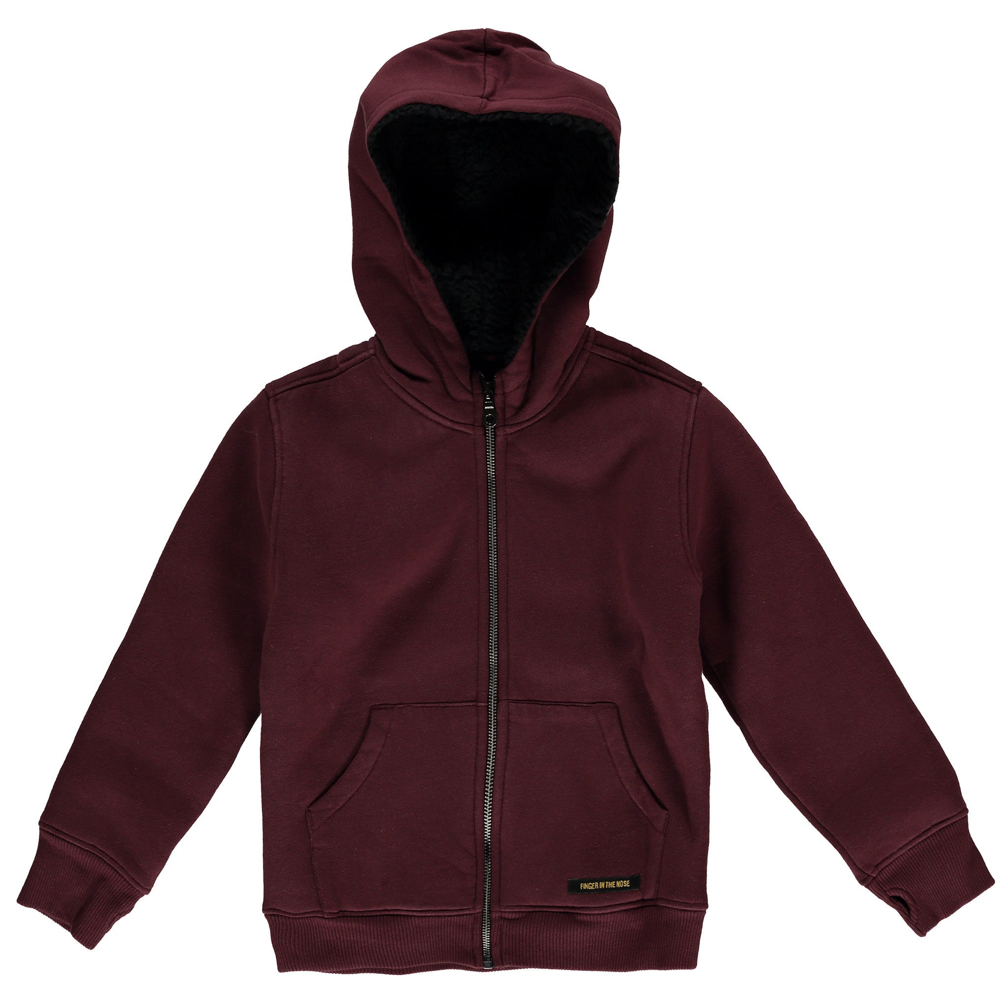 Finger in the Nose Hooper Zipped Hoodie in Burgundy | BIEN BIEN