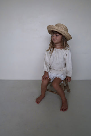 House of Paloma Gigi Kid's Blouse Naturelle Natural Linen | BIEN BIEN www.bienbienshop.com