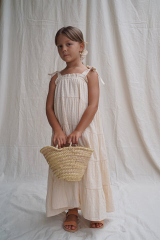 House of Paloma Sonnet Kid's Maxi Sun Dress Perle Broderie NEW