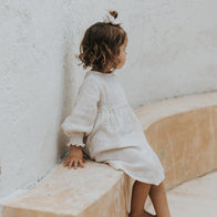 Illoura the Label Yumi Long Sleeve Dress Oat Baby & Kid | BIEN BIEN