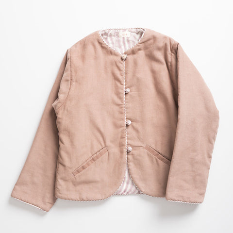 Ketiketa India Girl's Jacket in Wood Pink Corduroy | BIEN BIEN
