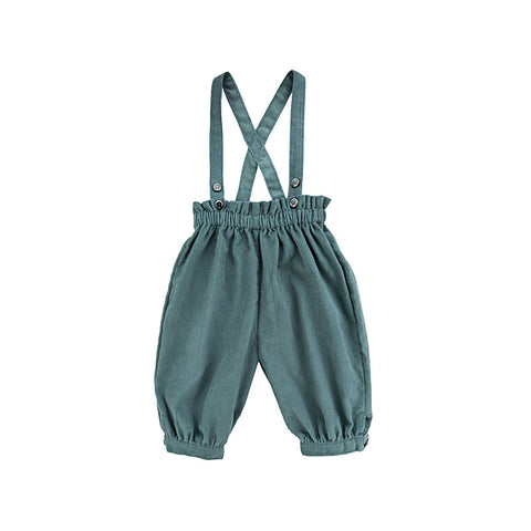 Ketiketa Simone Baby Girl Strapped Trouser in Winter Turquoise | BIEN BIEN
