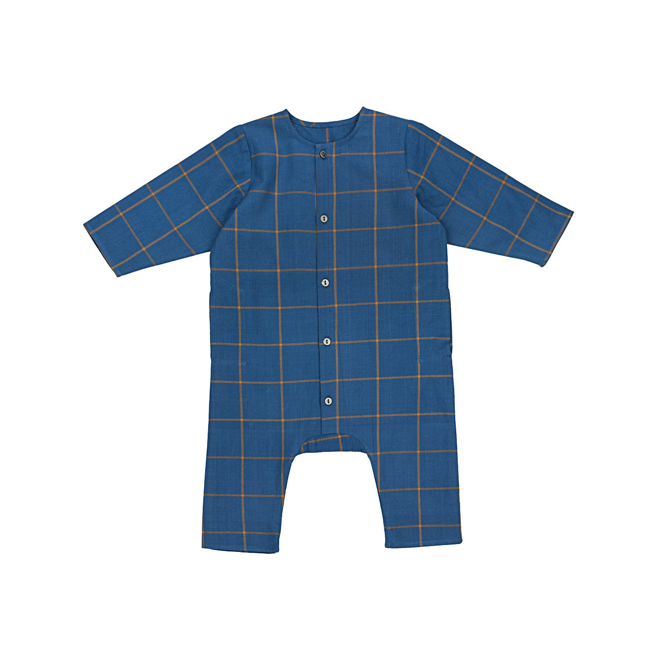 Ketiketa Kumar Organic Cotton Baby Romper in Big Check | BIEN BIEN