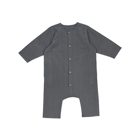 Ketiketa Kumar Organic Cotton Baby Romper in Small Check | BIEN BIEN
