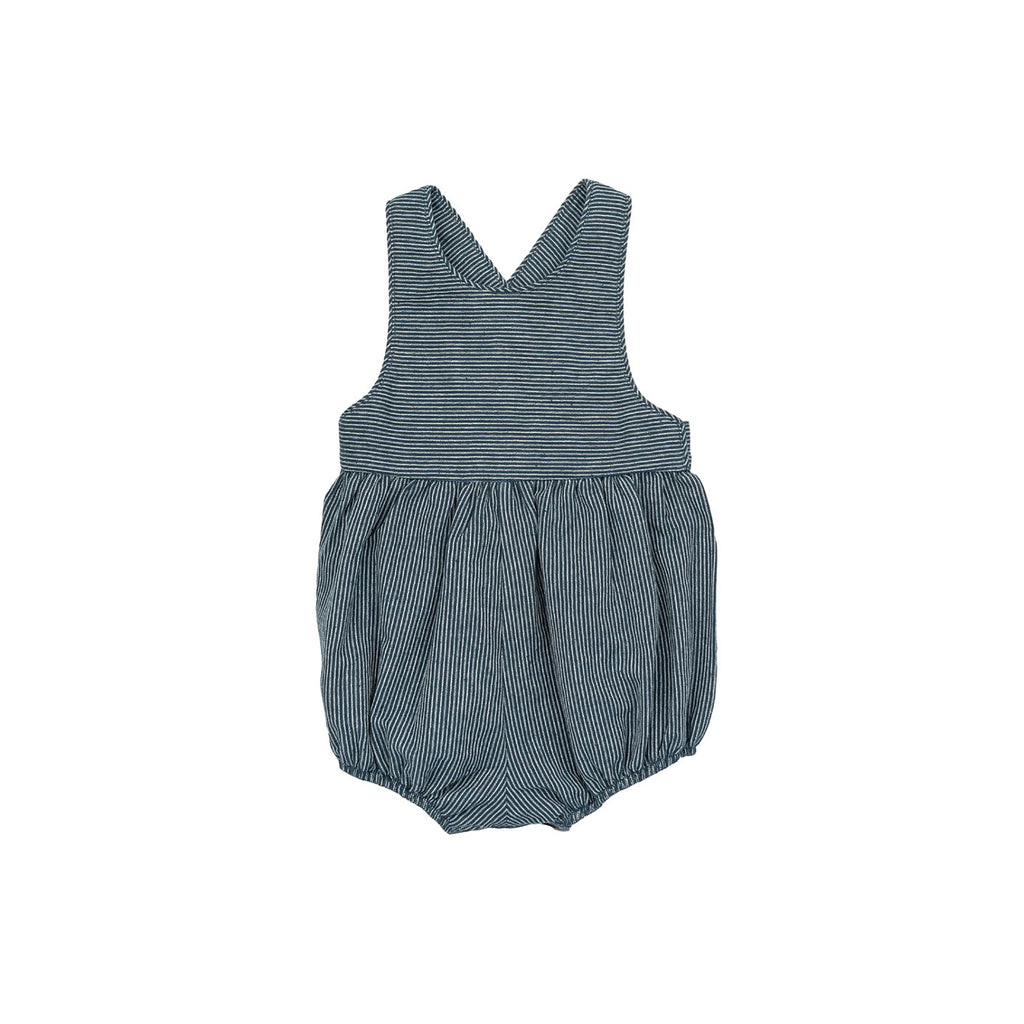 Ketiketa Zoé Baby Girl Short Romper Railroad Stripe Cotton | BIEN BIEN www.bienbienshop.com