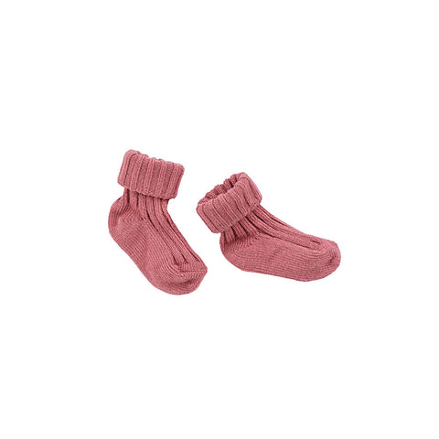 Ketiketa Baby Girl Ribbed Socks in Dark Tea Rose | BIEN BIEN