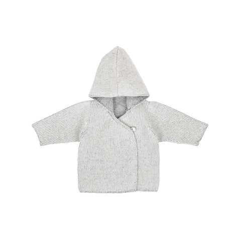 Ketiketa Hooded Kimono Sweater in Heather Grey | BIEN BIEN