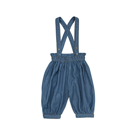 Ketiketa Simone Organic Cotton Baby Trouser in Denim | BIEN BIEN
