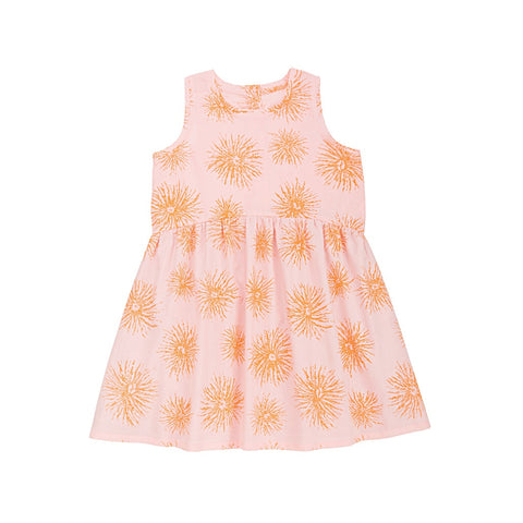 Ketiketa Milan Girl's Dress in Pink Orange Flower | BIEN BIEN
