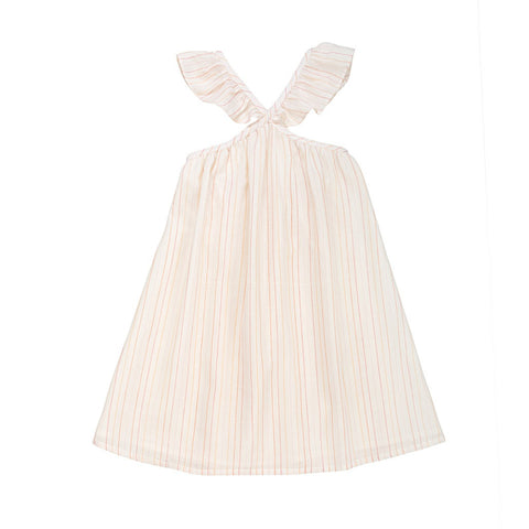 Ketiketa Selma Girl's Dress in Pink Orange Stripe | BIEN BIEN