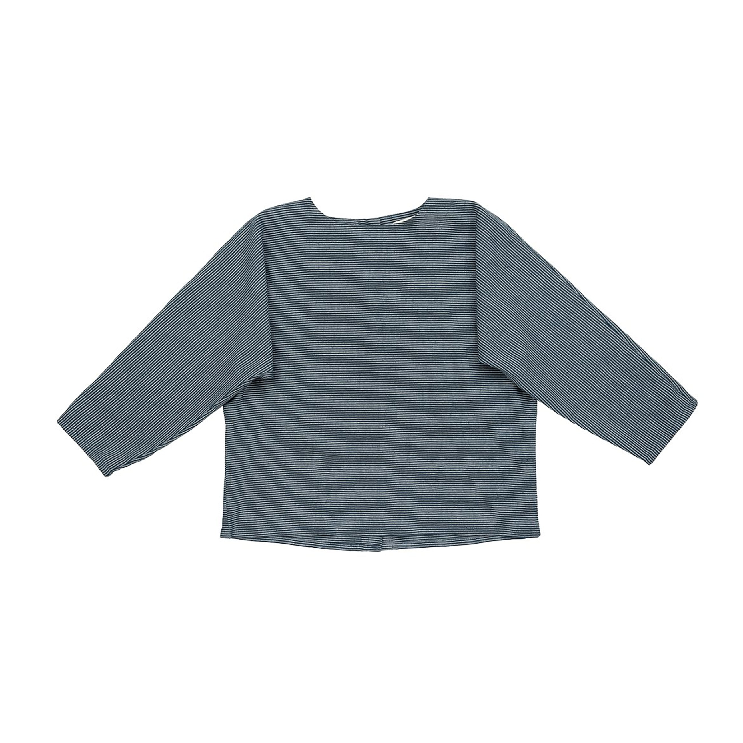 Ketiketa Sayaka Kid's Shirt Railroad Stripe Cotton | BIEN BIEN www.bienbienshop.com
