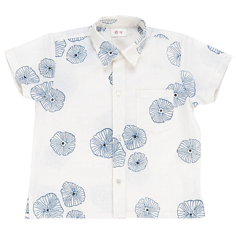 Ketiketa Orso Boys Shirt Blue Poppies