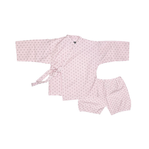 Kiboro Unisex Baby Two-Piece Kimono Set Red Madras | BIEN BIEN www.bienbienshop.com