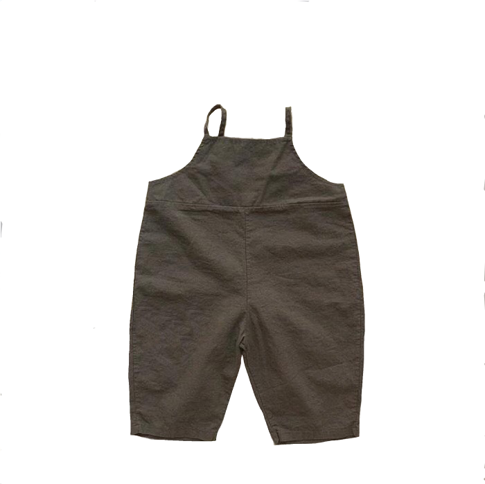 Korean Apparel - Hey Kid's Overall Cotton Dark Gray | BIEN BIEN bienbienshop.com